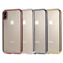 Hot Selling Plating TUP Soft Transparent Case For iPhone X Glitter Crystal Clear Phone Case