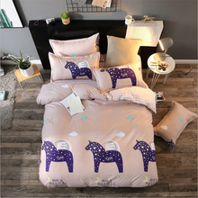 Super Comfortable Duvet Cotton Plain Bed Sheet Bedding Set