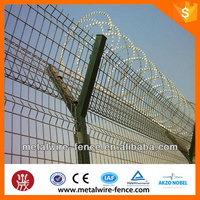 Y type airport fence with spiral razor barbed wire fence