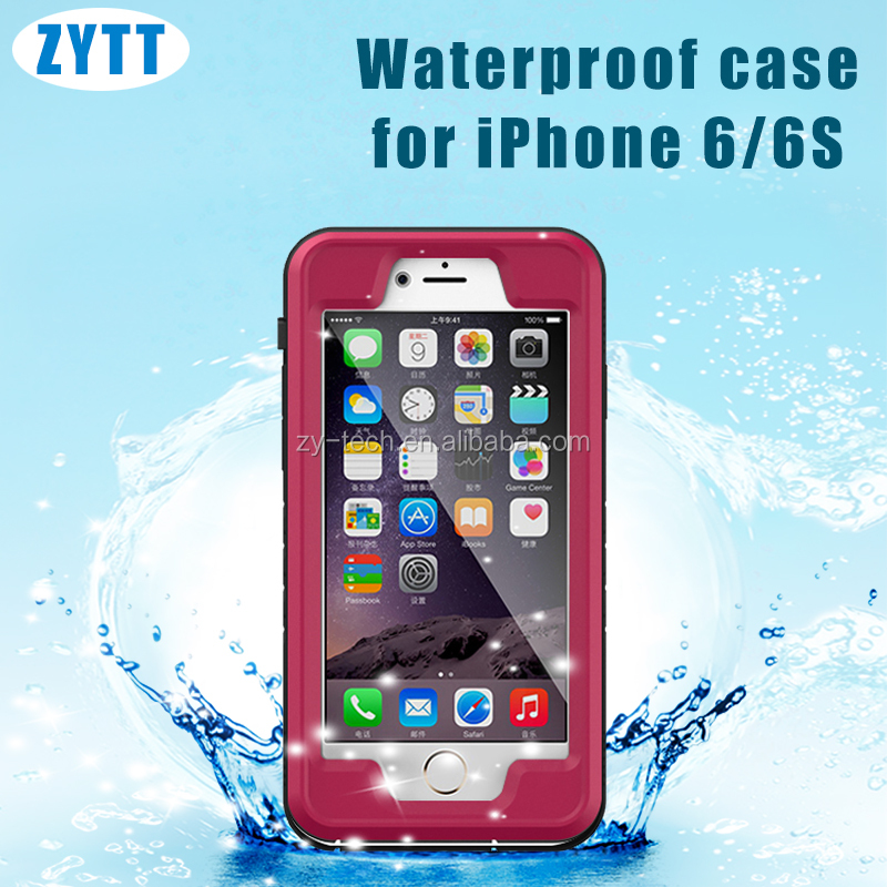 Pattern Phone Waterproof Case TPU Stand Flip Leather Cover for iPhone 6 4.7 waterproof case