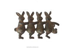 wrought iron rabbit wall hook for home