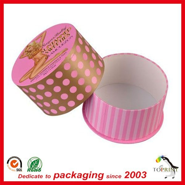 Woman bra storage paper box round shaped underwear packaging clothes paper tube