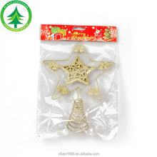 New Design Metal Pentagram Christmas Tree Ornament Christmas Tree Star Topper