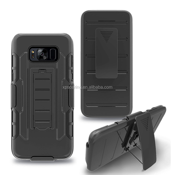 Faceplate holster case back cover for Samsung Galaxy S8 S8 Plus