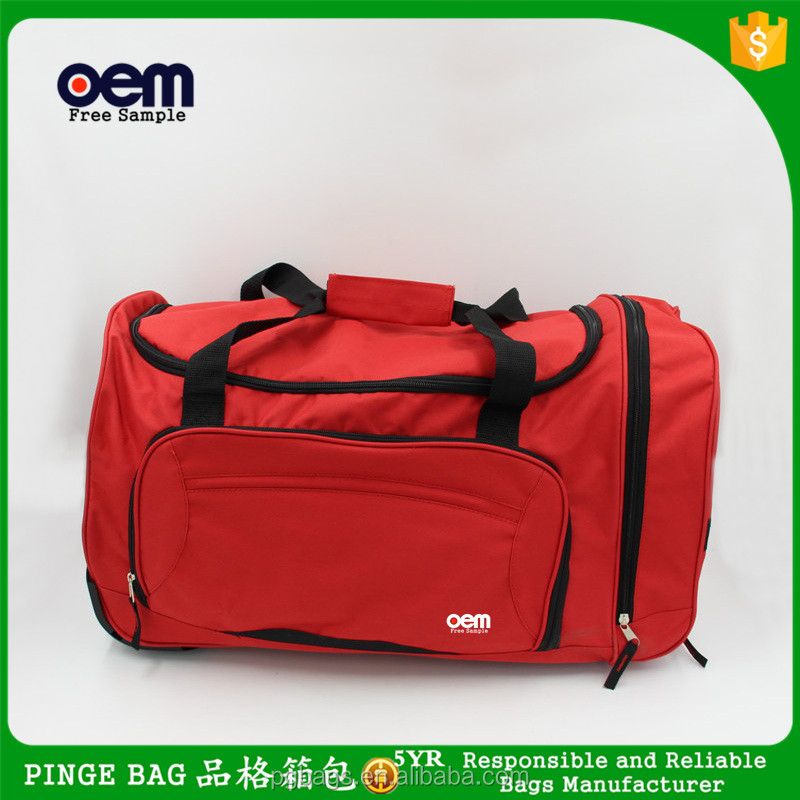 High Quality Customizable 600D Polyester Waterproof Weekend Cheap Travel Luggage Bag