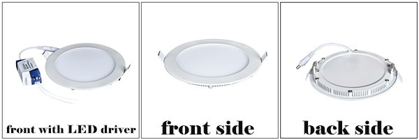 Energy saving ultra slim round led panel ceiling down light price smd2835 white color