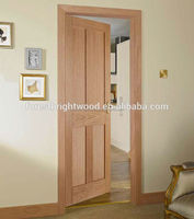 Mahogany veneered 4-panel shaker interior doors