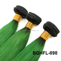 Factory Price 100% Virgin Caucasus Hair One Donor ombre color machine hair weft
