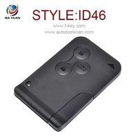 High quality remote for Renault Megane with remote card 433MHz ID46 car key AK010024