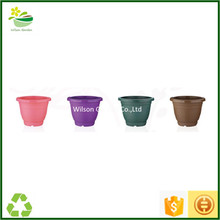 Plastic flower urns large round planter plastic flower pots wholesale