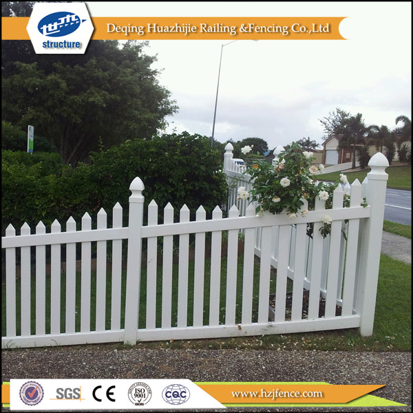 Vinyl used fencing for garden--UV protection