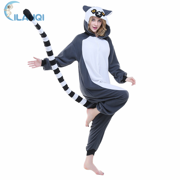 ALQ-<strong>A014</strong> 100% Polyester unisex polar fleece adult hooded footed pajama