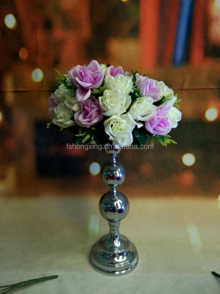 metal sliver wedding centerpiece flower stand for table decoration wedding decoration