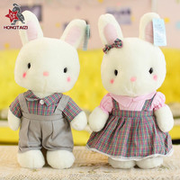 custom long ears plush rabbit toys for wedding gifts
