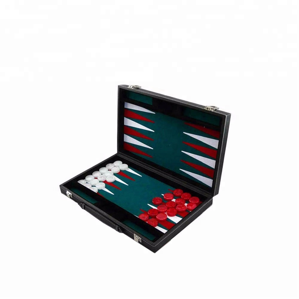 Backgammon set with high quality faux leather