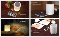 Portable Multifunctional Wireless Bluetooth Speakers with Smart Touch LED Colorful Lamp