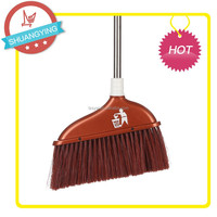SY3608 Plastic Cleaning floor PP soft broom manufacturer with Stainless steel stick