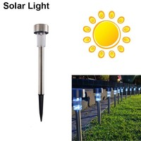 High Quality Waterproof ABS Solar Light White Stainless Steel Led Spot Light Led The Lamp Solar Street Light