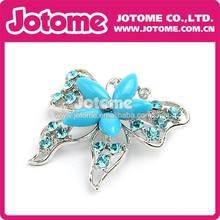 Super Adorable Blue Sapphire beads Color CZ Butterfly Brooch