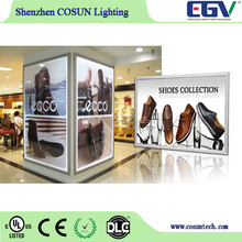 2016 NEW hot sale aluminum poster frame led lighting box advertising board for mall decoration