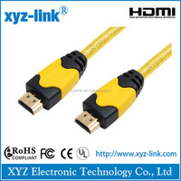 Double ended 24k hdmi to din cable 2.0 , male to male gender hdmi to bnc cable , 19 pin connector hdmi cable support hdtv xbox