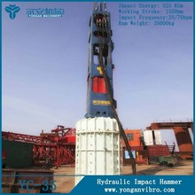 Hot Sale New Crane-type Piling Machinery YC-35 Hydraulic Impact Sheet Pile Driving Hammers
