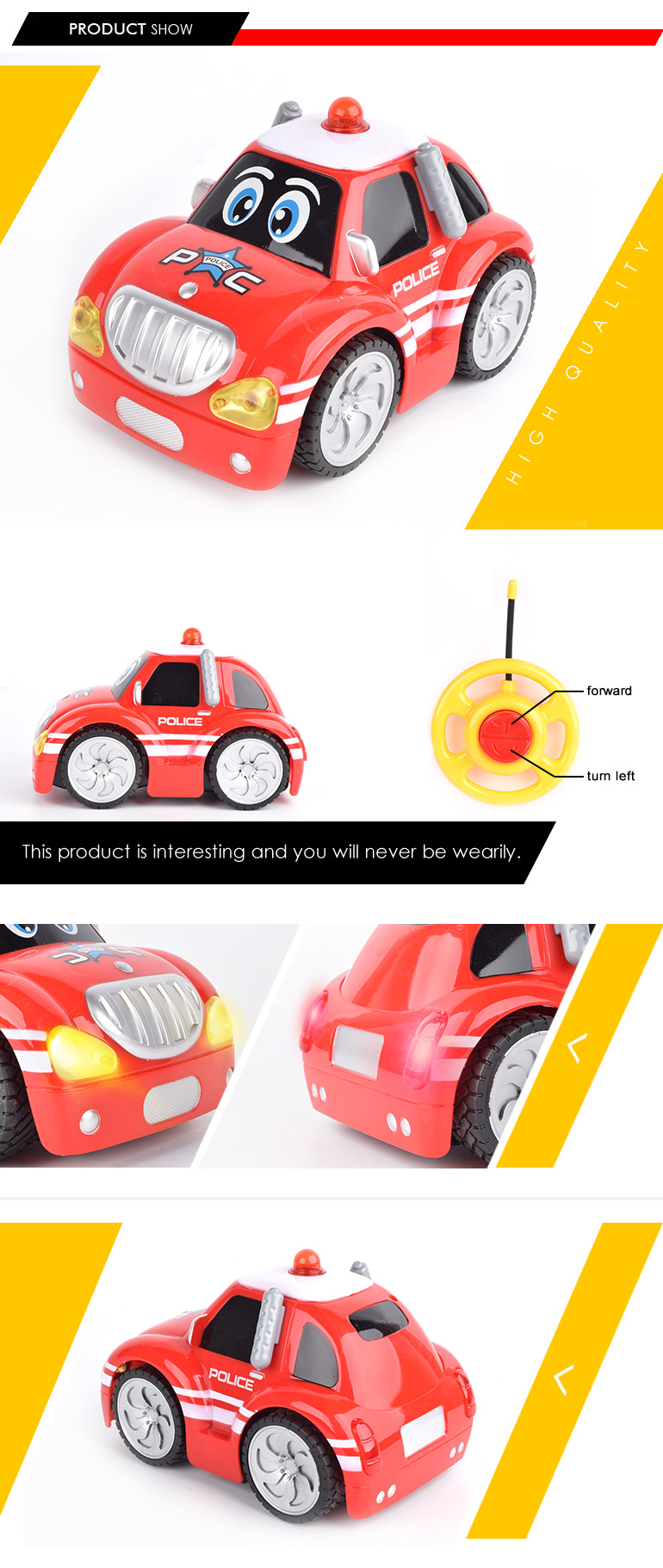 universal hobby 2CH plastic model car steering wheel for remote control