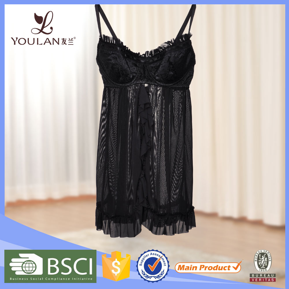 Best Price high quailty lingerie Manufacture sex night dress for women