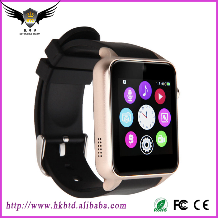 2016 New Design 2.5D Radian Smartwatch Android Waterproof GT88 Smart Watch Bluetooth SIM V4.0 Camera NFC Heart Rate Monitor