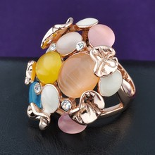 cheap mens turkish channel setting gold rainbow fire opal rings
