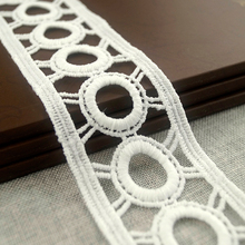 Geometric Cording Guipure Knitting or Crocheted Lace