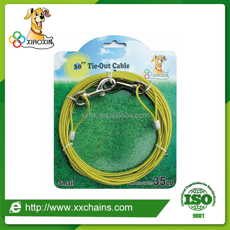 Pet product classification pet dog usage tie-out cable manufacturer