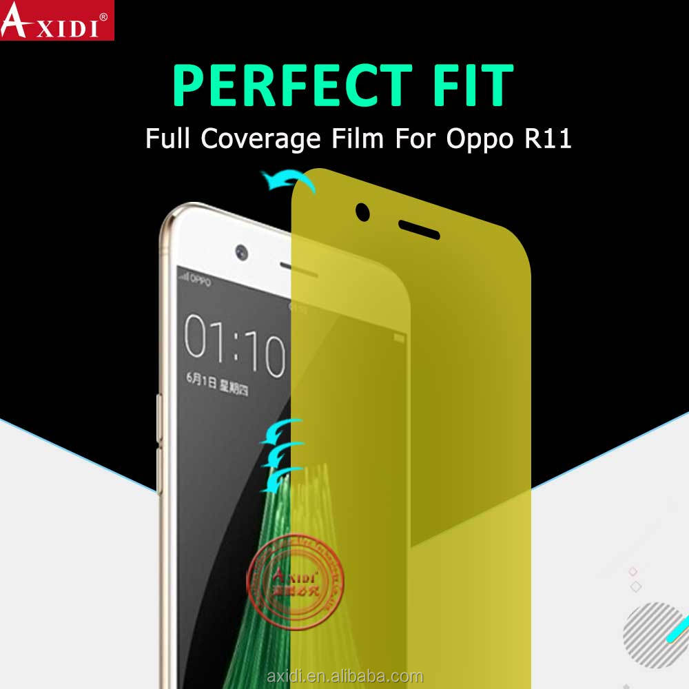 Wholesale alibaba high clear 3D curved mobile phone full cover edge screen film for OPPO R11 cell phone