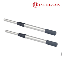 Anodized aluninum extension pole parts with twist lock