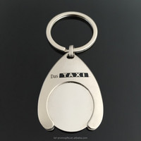 Custom Shape Coin Holder Keychain Metal Coin Keychain Blank Metal Keychains