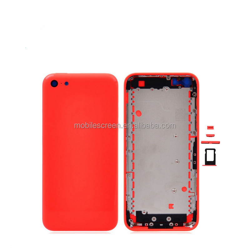 Newest Replacement Parts Housing completed for iPhone 5 5S 5C Back Battery Cover Rear Door Back glass 5 colors
