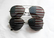 American national flag on aviator sunglasses, good quality and good price; UV400 lenses meets CE and FDA