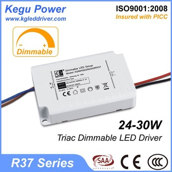 45 KEGU R37 24-30W Triac Dimmable LED Driver 500ma led driver with CE SAA