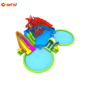 Commercial Lobster Ocean Giant Pool Inflatable Amusement Park Equipment With Pool And Slide Inflatable Hight quality Water Park