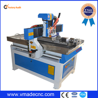 Hot sale factory price 4 axis cnc milling machine/cnc woodcutting machine 6090
