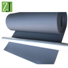 Gray fire resistant wall and roof rubber heat insulation materials