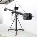 Professional TV filming 12m triangle jimmy jib camera crane for Sony ARRI and Red camcorder