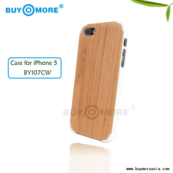 eco-friendly and environmental engraved cherry wood case cover for iphone 5/5s/5g
