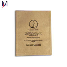 Custom premium smelly proof zip bag brand made of aluminium foil kraft paper material flat pouch