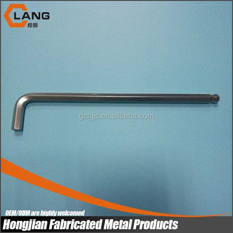 7mm Sand Blasting Chrome Plated Extra Long Type Hex Key Wrench with logo