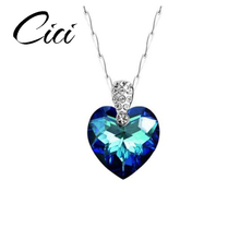 Latest Designs Diamond Necklace Virgin Mary Heart Of The Ocean Necklace