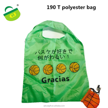 2017 OEM Fashion Cheap foldable shopping bag, Recycled 190T Polyester bag,New Design nylon foldable travel bag