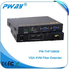 Pinwei PW-THF108KM High quality RS232 1080P 3D RJ45 HDMI Extender over 10km fiber optic cable
