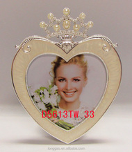 Heart Shaped Metal Picture Photo Frame