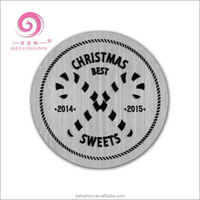 New Fashion Merry Christmas Stainless Steel FloatingLocket Plates For Memory lockets
